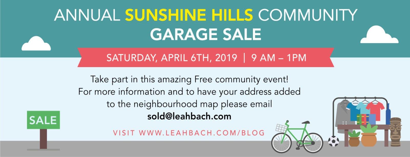 Annual Sunshine Hills Community Garage Sale Leah Bach Personal