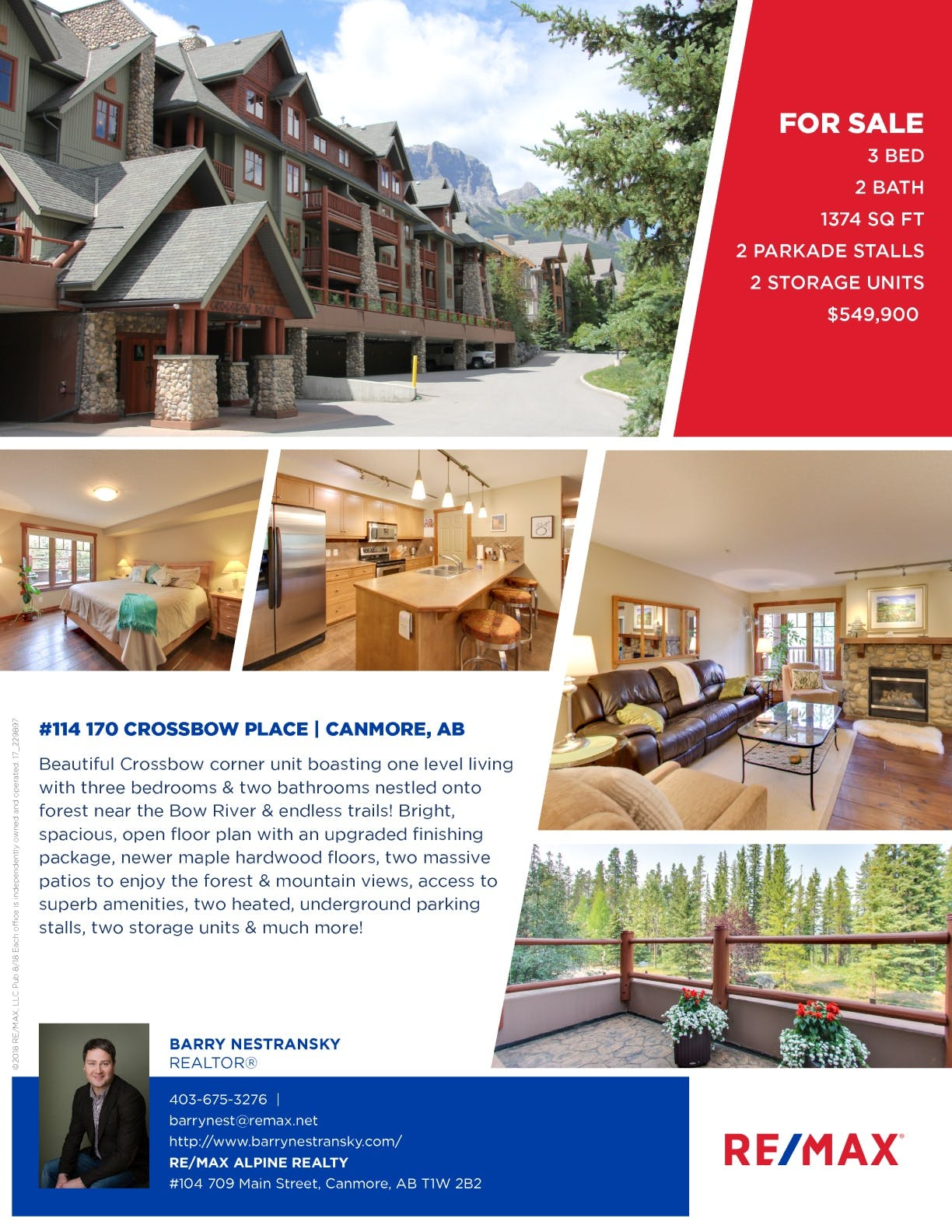 #114 170 Crossbow Place, Canmore