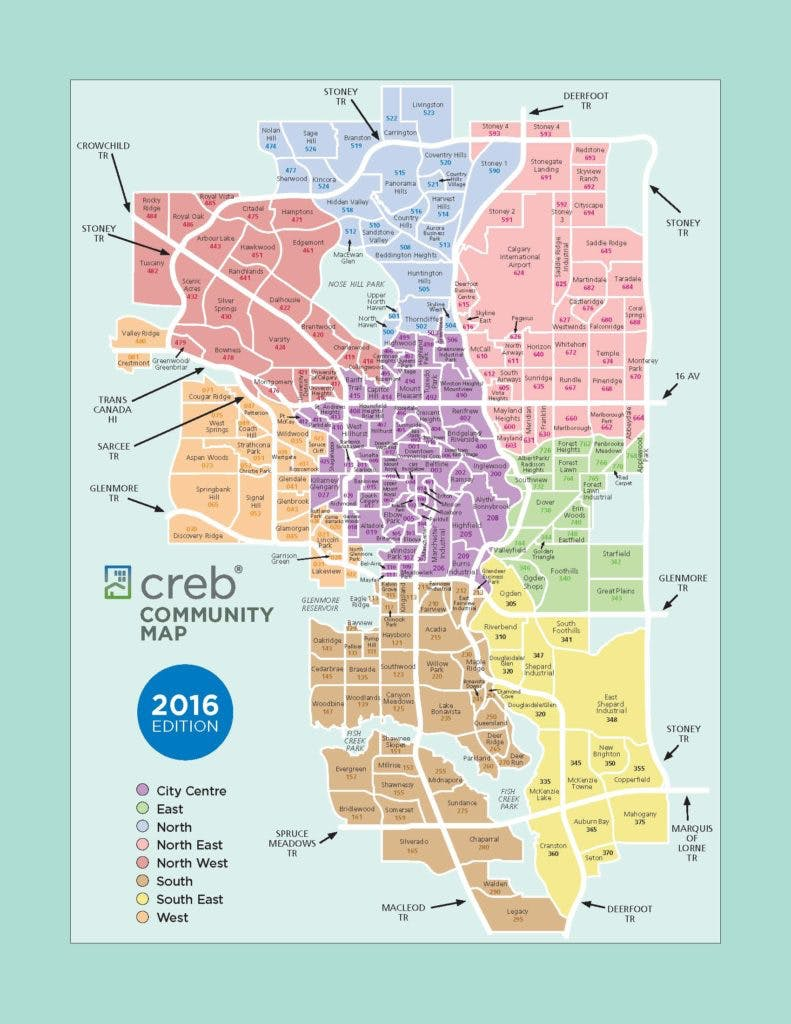 CREB Calgary Community Map