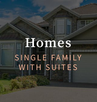 Single Family Homes with Suites