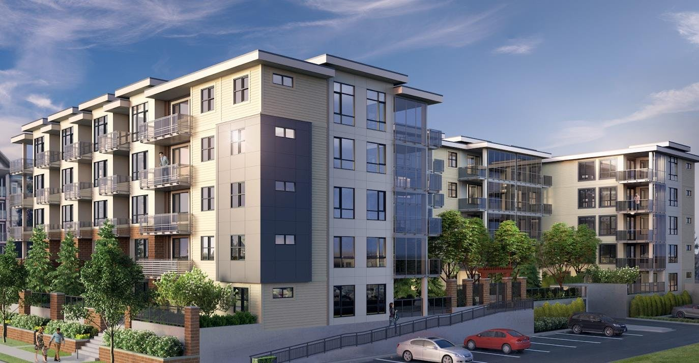 new home development in Langley, the Civic exterior rendering