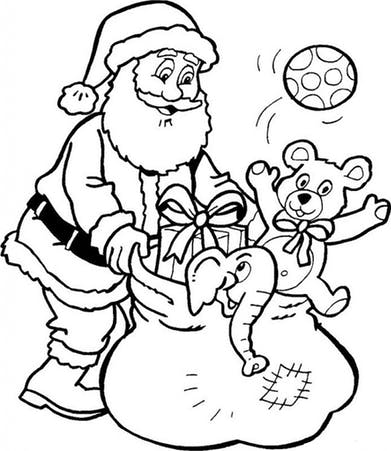 Christmas Coloring Pages Christmas Tree Coloring Pages Santa with regard to Santa Clause Coloring Page
